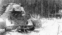 Танки Т-34 1-й гвардейской танковой бригады. Декабрь 1941 года