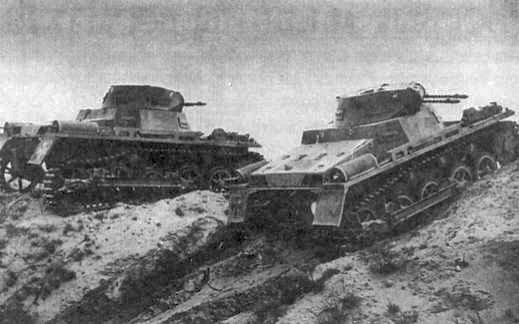 Легкие танки pz i ausf a на маневрах 1934 г