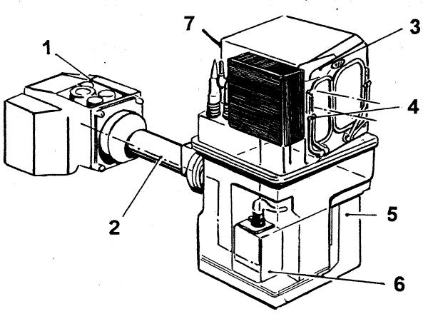 Принципиальная схема прицела HL-60 1 - монитор; 2 - оптический канал; 3 - телекамера; 4 - блок стабилизации;5...