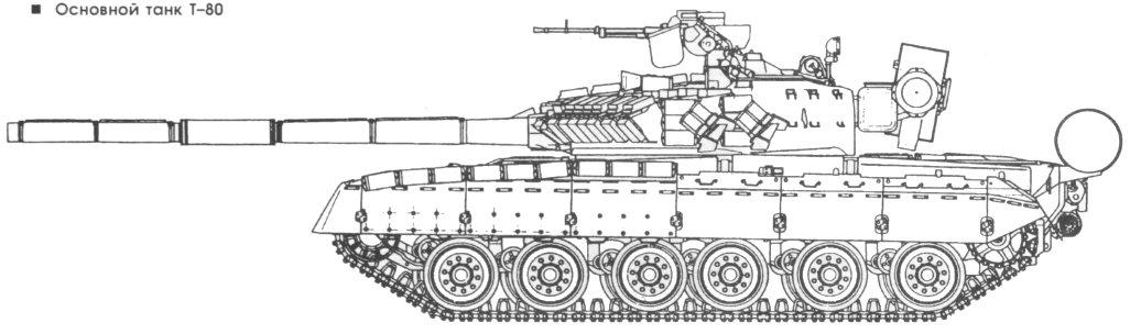 Обсуждали мы как-то чертеж Т-80, обозначенный у меня на сайте как Т-80В.  По заявлению Специалиста (М.Саенко) это...