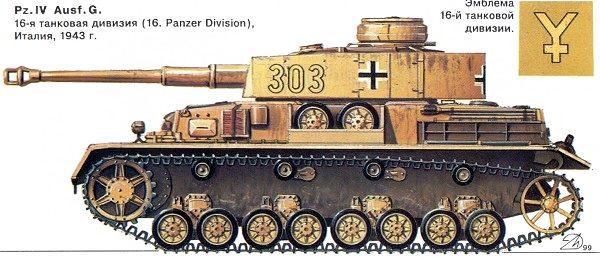 Pz iv ausf g италия 1943 г