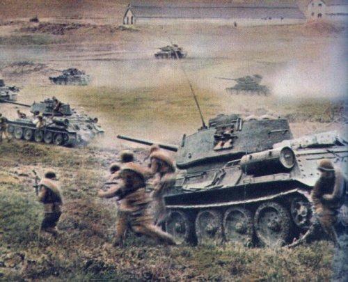 Танковая атака.