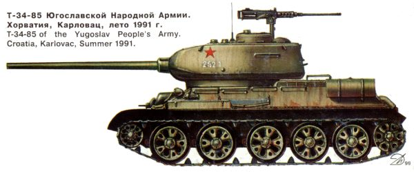 Обои танк средний Т3485 85мм картинки на рабочий