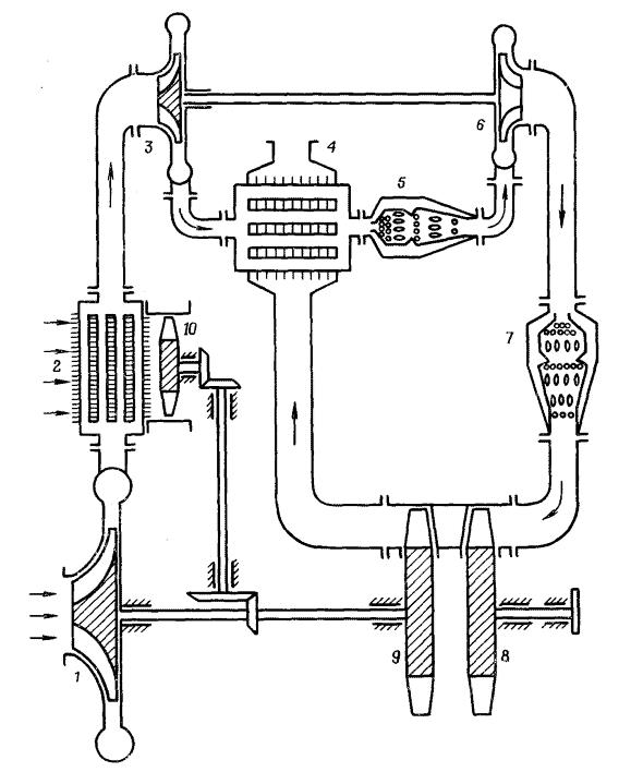 Схема трехвального