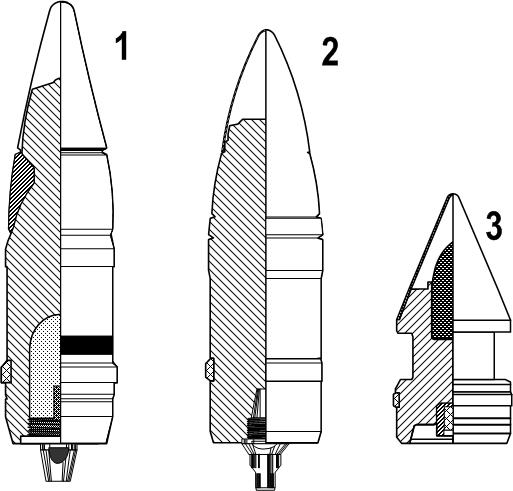 Выстрел УШ-354Т со снарядом